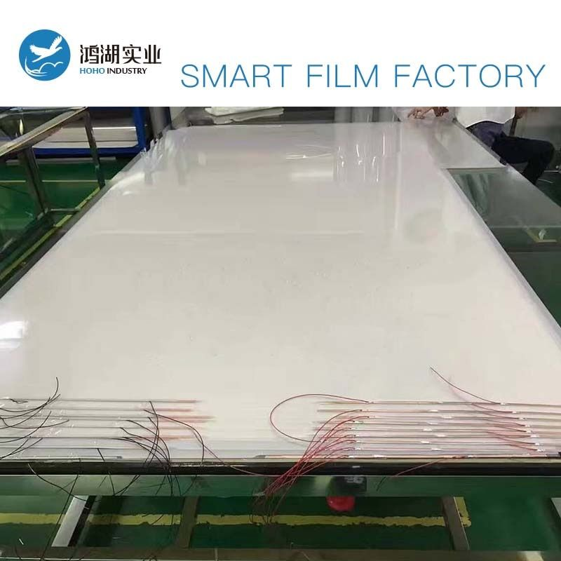 2pcs 533.4x1028.7mm,1104.9x1028.7mm White PDLC Smart Film Glass Switchable Electroc Vinyl+50w Powersupply with Remote Control