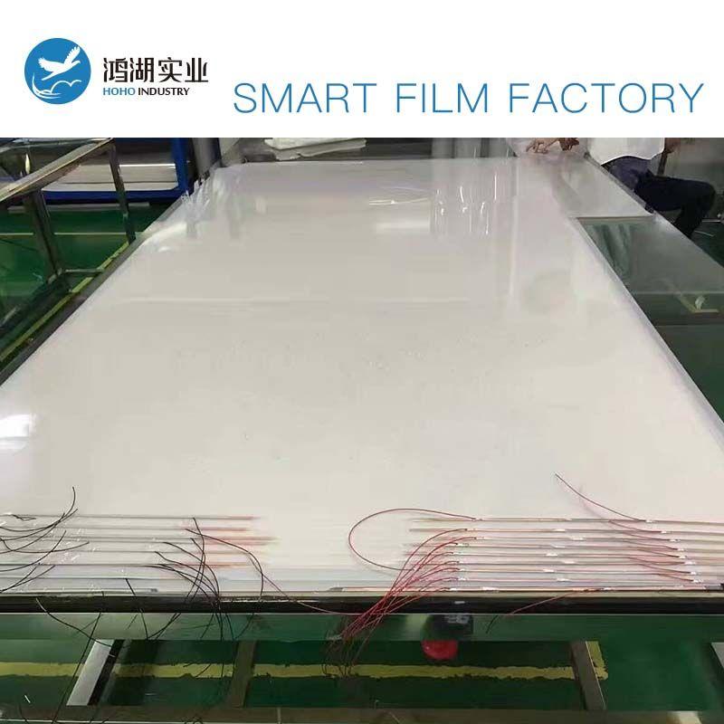 2 stücke 533,4x1028,7mm, 1104,9x1028,7mm Weiß PDLC Smart Film Glas Umschaltbar Electroc Vinyl + 50 watt Netzteil mit Fernbedienung
