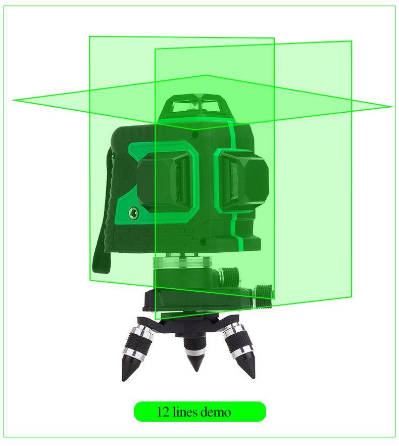NEW 3D Laser Level Self-Leveling 360 Horizontal And Vertical Cross Laser Beam Line