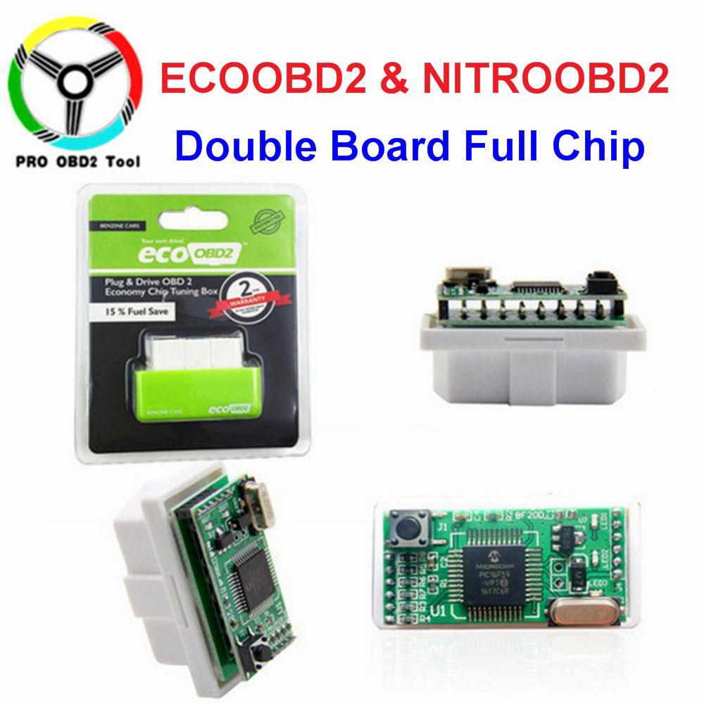 New EcoOBD2 & Nitro OBD2 Gasoline Plug & Drive Performance For Benzine Eco OBD2 ECU Chip Tuning Box 15% Fuel Saving More Power