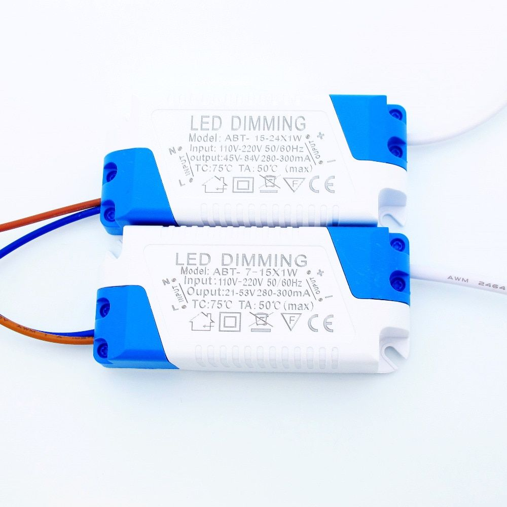 300mA Dimmable Led Driver 7W 9W 10W 12W 15W 18W 21W 24W Power Supply AC 110V 220V for LED Ceiling lights Bulb DC Plug