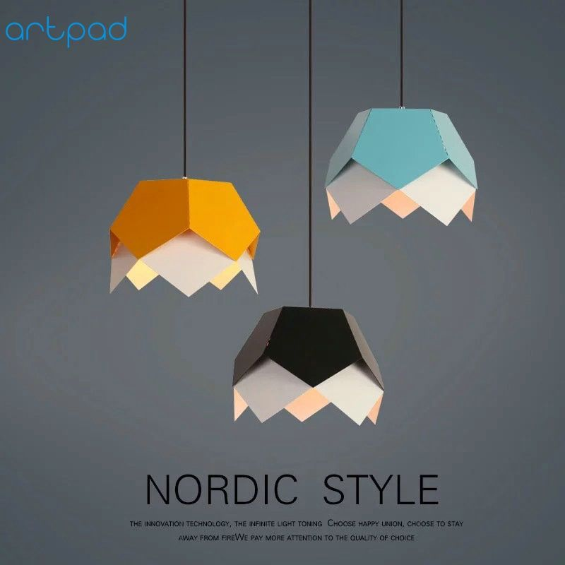Artpad Modern Kid Children Room LED Pendant Lamp AC110V-220V E27 Nordic Pendant Lights For Coffee Bar Hotel Living Room Fixtures