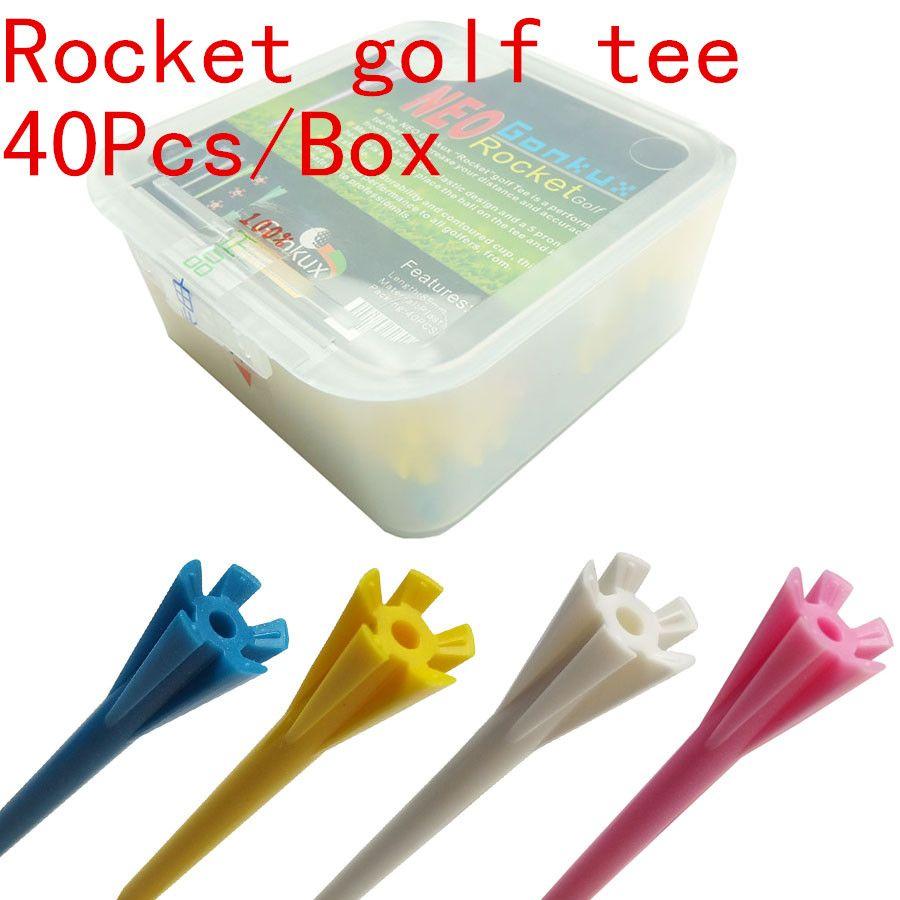NUEVO Golf tee de golf, tees de golf de Plástico de 85mm, 40 Unids/caja