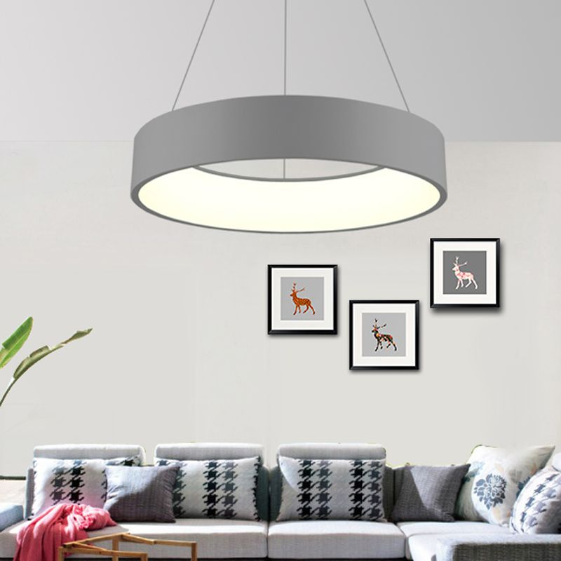 Gray/ White Modern Chandelier For Dining Room Bedroom Iron Dia 60/ 45cm Simplicity LED Chandelier Lighting light fixtrus