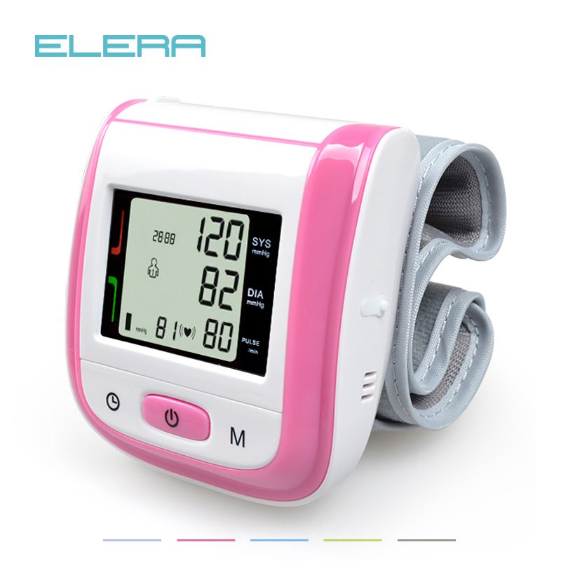 <font><b>Health</b></font> Care Automatic Wrist Blood Pressure Monitor Digital LCD Wrist Cuff Blood Pressure Meter Esfingomanometro Tonometer