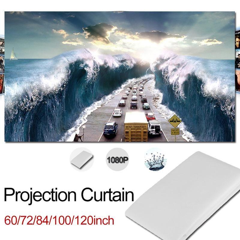 Портативный складной 72 дюймов 16:9 проектор БЕЛЫЙ Проекционный Экран для HD проектор домашнего Театр Кино фильмы партии