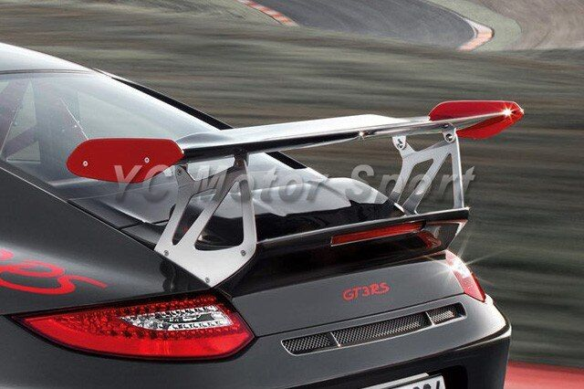 Car Accessories FRP Fiber Glass GT4 Style Trunk Spoiler with Base Fit For 2005-2011 Carrera 911 997 Rear GT Wing