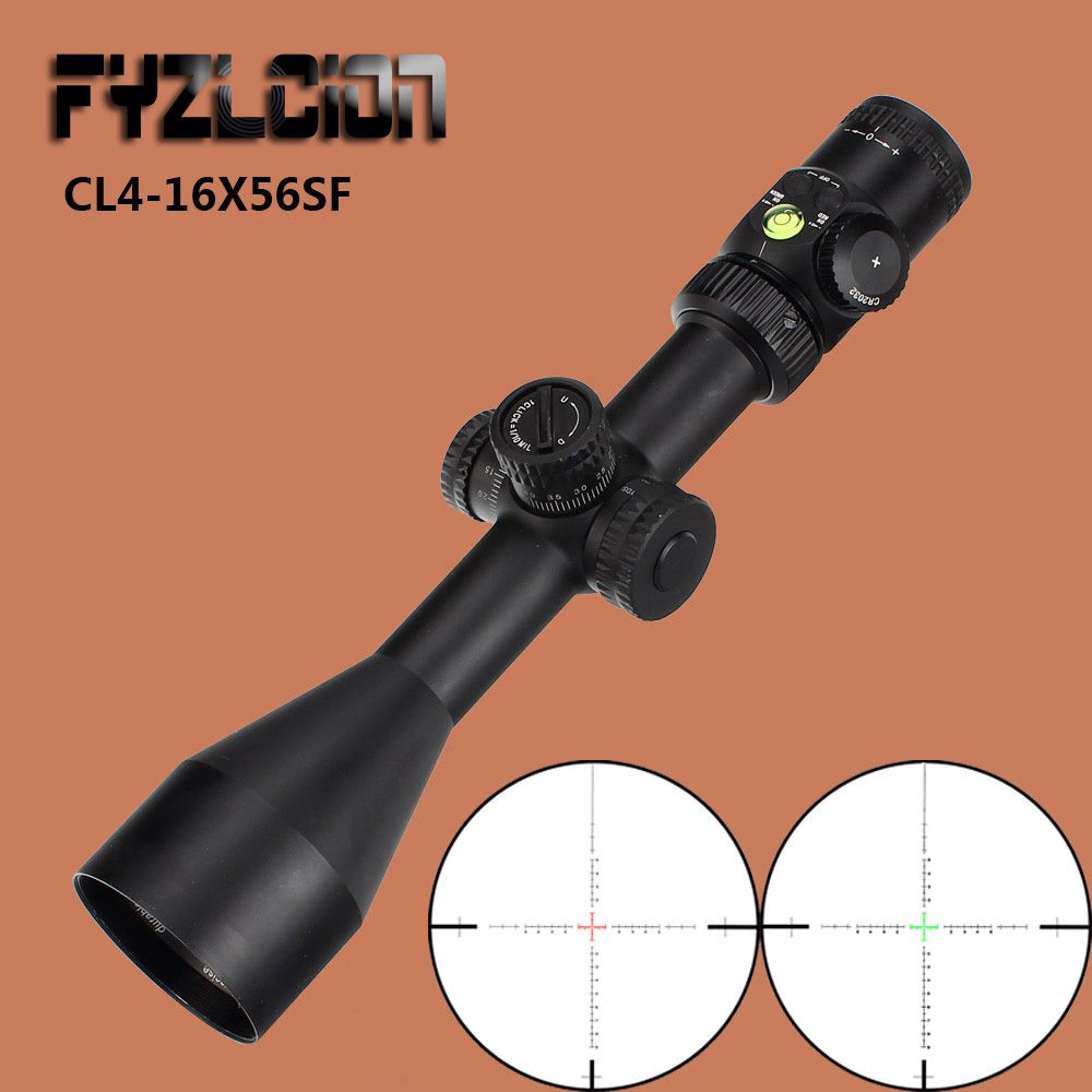 CL 4-16X56 SF Tactical Optical Sights Red Green Illuminated Glass Reticle Riflescope Side Parallax airgun air rifle Scope