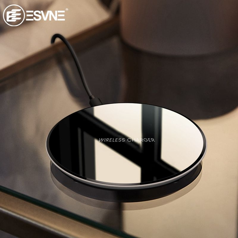 ESVNE Qi Wireless Charger 5w phone charger wireless Fast Charging for iphone XS MAX XR Samsung Xiaomi Huawei Dock Cradle Charge