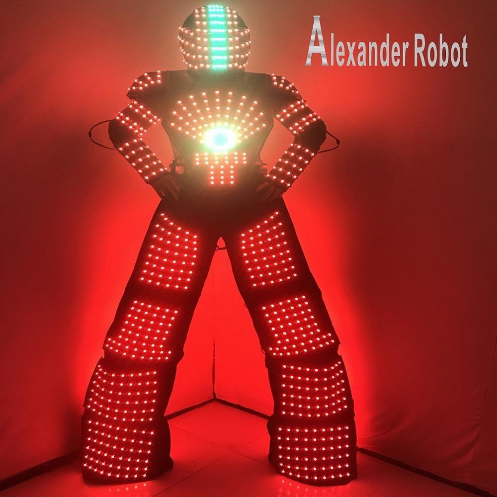 FÜHRTE roboter anzug Kostüm/LED Kleidung/Licht anzüge/LED-Robot anzüge/Alexander