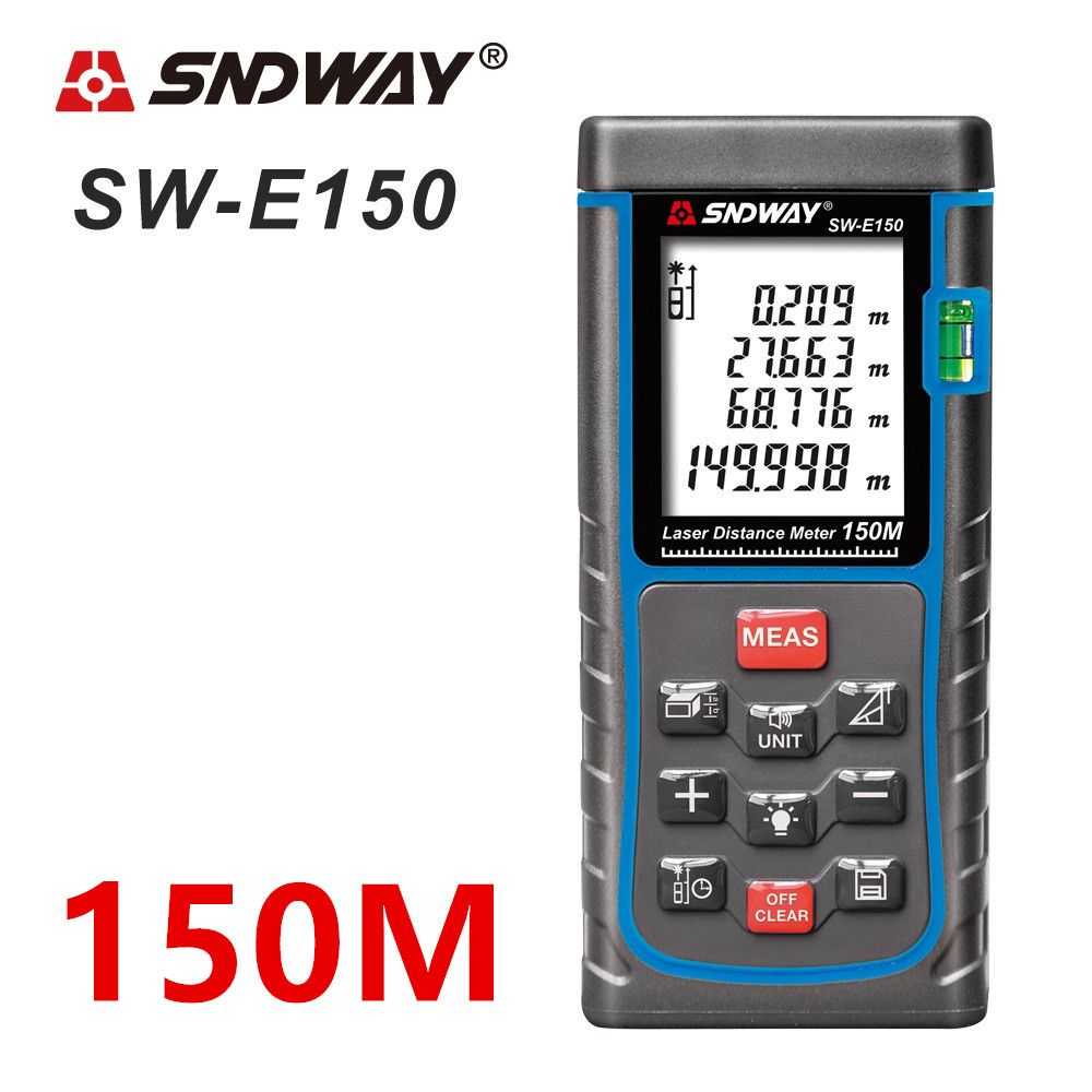 SNDWAY Laser distance meter 150M 100M 80M 60M 50M Laser rangefinder trena Laser tape range finder build measure device ruler