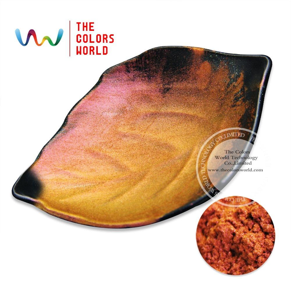 TCWB-171 Red Gold Purple muticolor shifting effect pearlescent Chameleon powder magic pigment 1Pack =10g