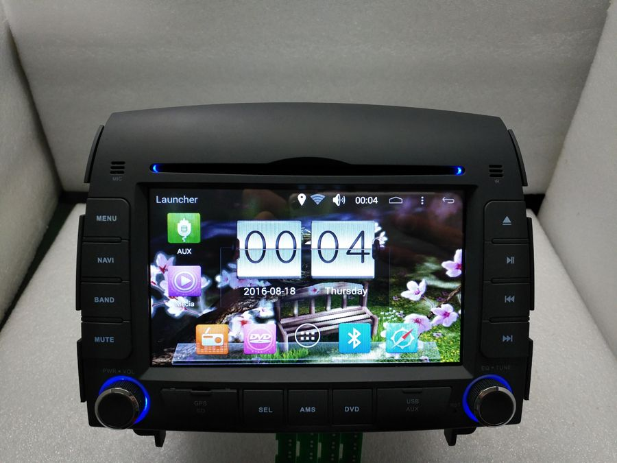 2 DIN Car Radio Audio DVD Multimedia Player Android 6.0 GPS Navigation For Hyundai Sonata 2006~2008 Retail/Pc Free Shipping