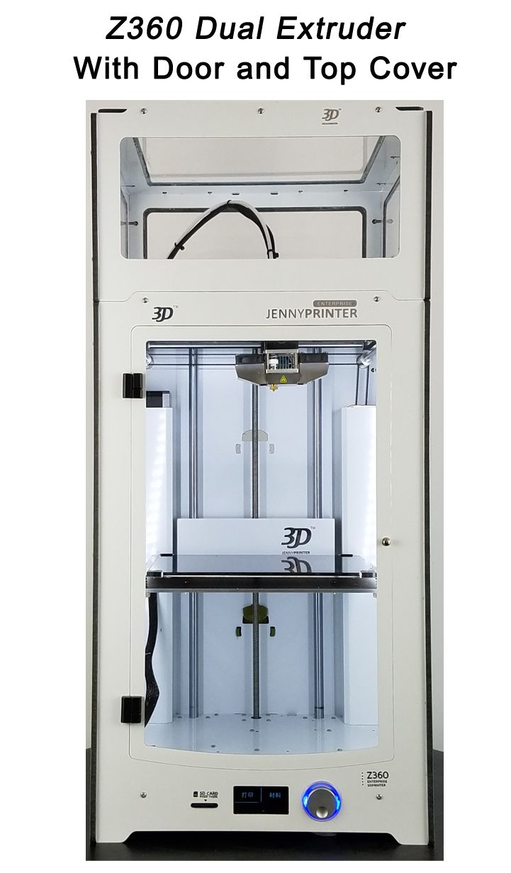 JennyPrinter3 Z360 Double Extrudeuse Haute Précision et Grand Volume 3D Imprimante BRICOLAGE KIT Pour UM2 Ultimaker 2 + Étendu