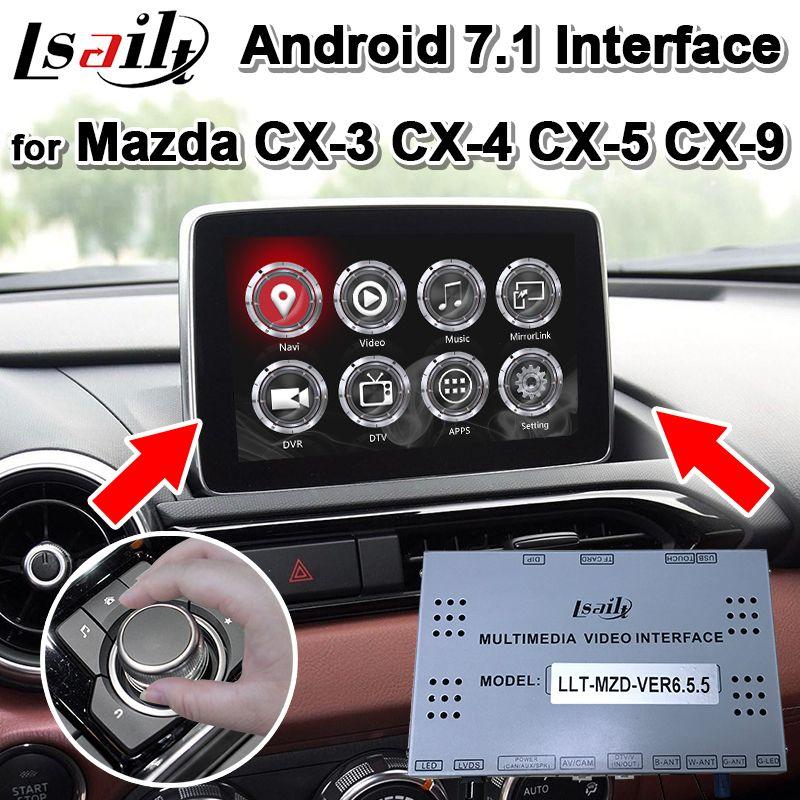 Android 7.1 GPS Navigation Box für Mazda CX-3CX-4 CX-5 CX-9 2013-19 Video Interface, unterstützung zwei bilder display in gleichen bildschirm