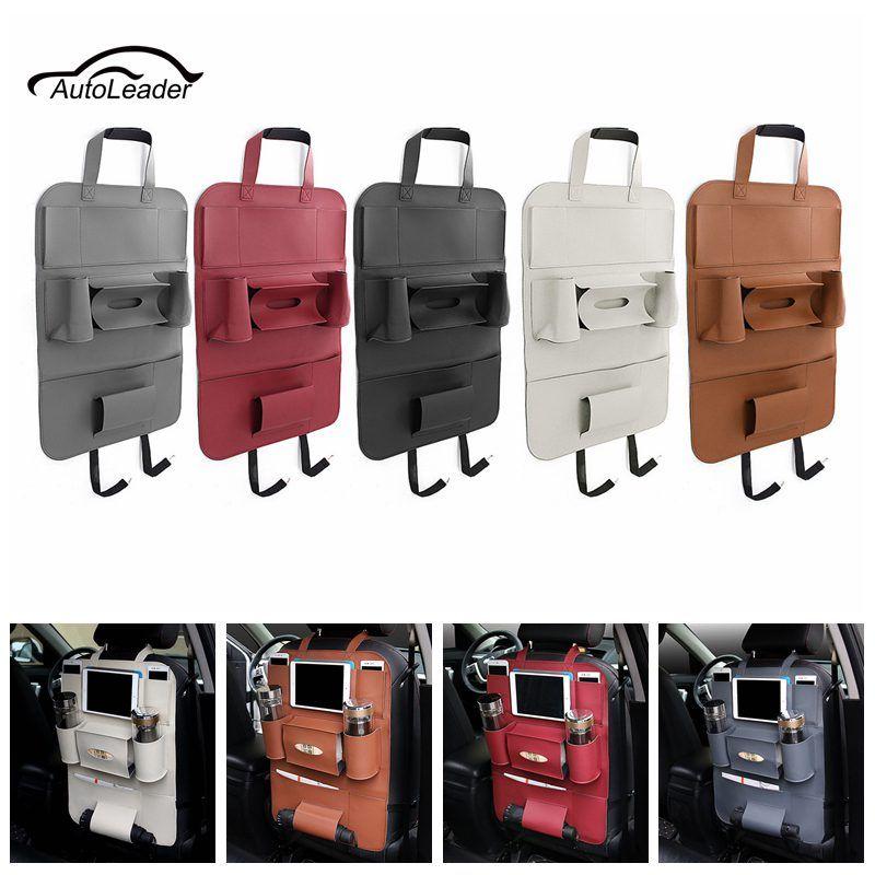 Leather Auto Car Seat Storage Bag Car Seat Back ravel Storage Bag Hanger Car Styling Back Car Seat Cover Organizer Holder