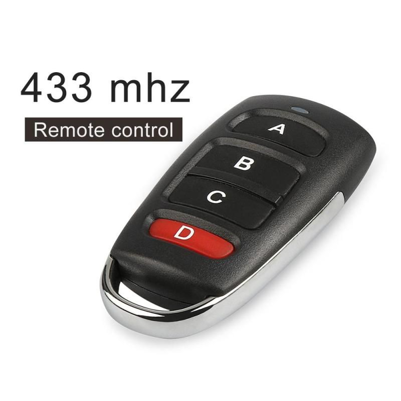 433mhz 4-Channel RF Remote Control Switch 433 mhz Transmitter For Gate garage door with Battery Copy Cloning Electric Control