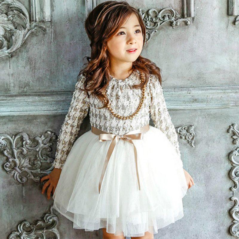 2018 Haute Qualité Filles Automne Hiver Robe Poule Filles Princesse Robes enfants vêtements Fille Enfants Occasionnels Robe CE032