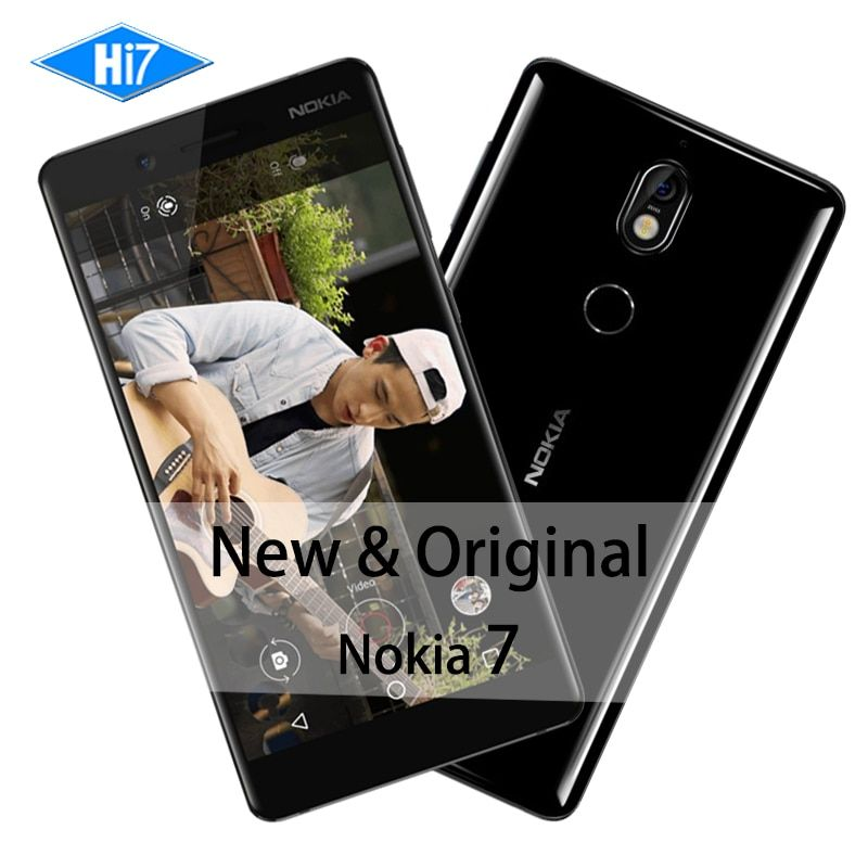 New Original Nokia 7 4GB RAM 64GB ROM 16MP Camera Dual Sim Cards 5.2inch Octa Core 4G LTE 3000mAh Android 7.1 Smart Mobile Phone