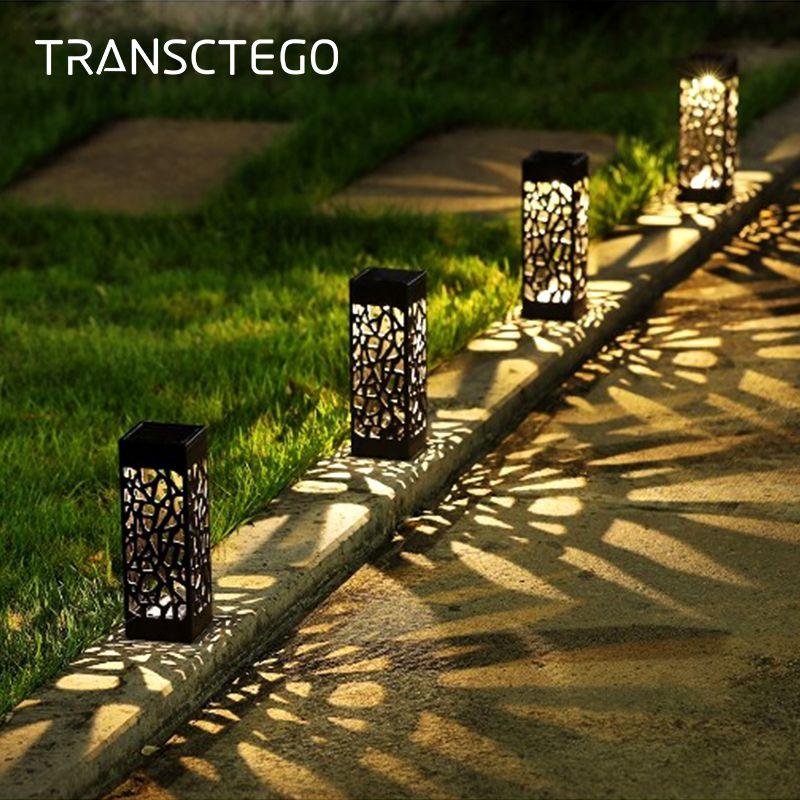 La voie solaire de jardin allume la lampe de pelouse pour la décoration extérieure de lanterne de jardin