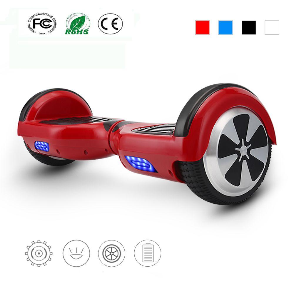 4 Farben 6,5 Zoll Hoverboard Zwei Rädern Selbstabgleich Elektroroller Skateboard Schwebebrett Gyroskop Mit Tragetasche