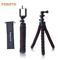 Fosoto Средний Гибкий штатив для цифровой фотокамеры модели осьминог Gorillapod монопод мини штатив с держателем для Gopro Hero 2 4 3 + 3 и телефона