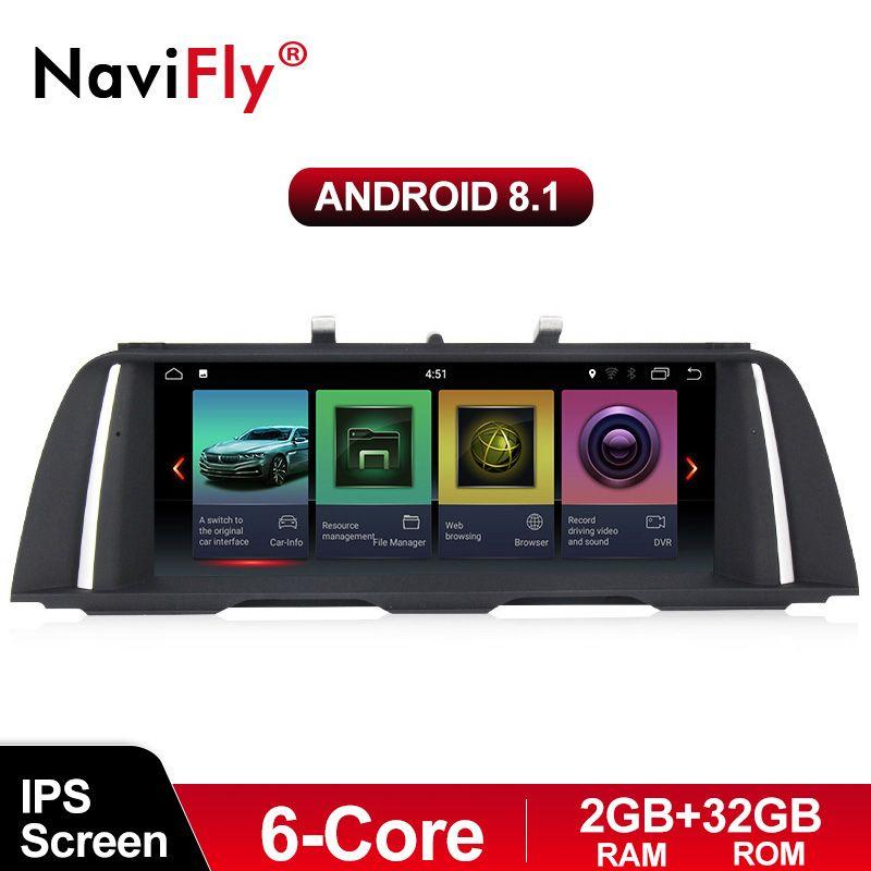 IPS Bildschirm 2 GB + 32 GB Android 8.1 auto gps multimedia player für BMW 5 Series F10/F11/ 520 (2011-2016) original CIC oder NBT system