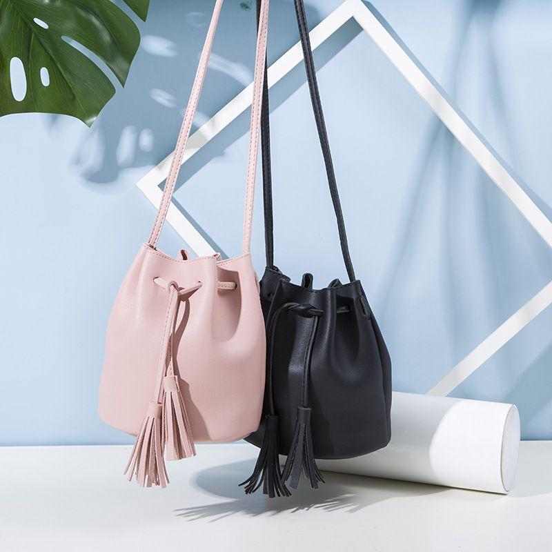 SMILEY SUNSHINE vintage petits sacs à bandoulière pour femmes 2018 rose mini messenger sacs gland mode femme rabat sacs à bandoulière