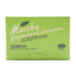 80 hojas/paquete papeles Tissue maquillaje té verde aceite de limpieza absorción de papel de cara Absorb Blotting cara limpiador Facial herramientas