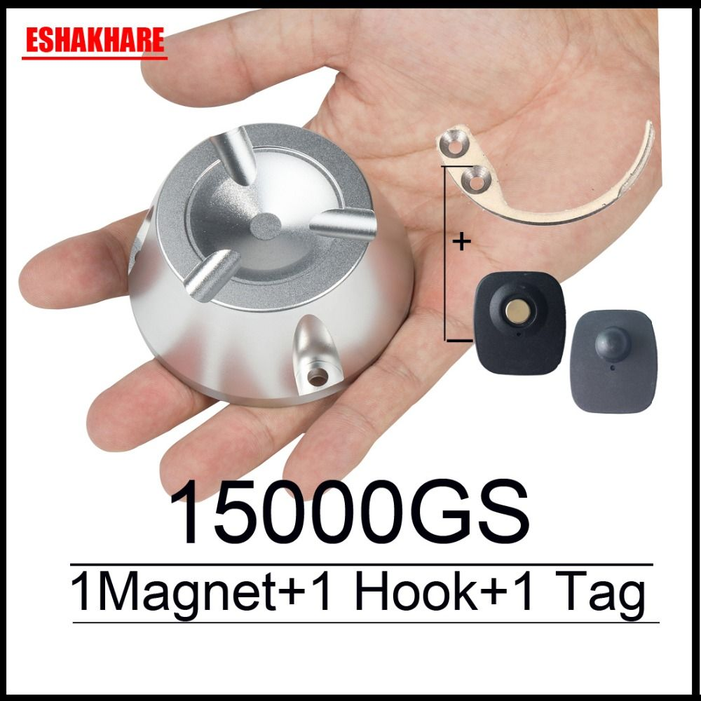 Super magnet detacheur eas 15000GS universal sicherheit tag remover 1 piece1 schlüssel haken detacheur für 58 Khz eas sytems