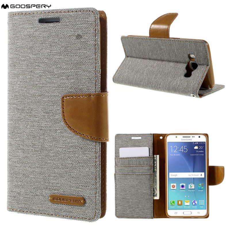 MERCURY Case Capa for Galaxy J510F J510 Cases GOOSPERY Canvas Leather Wallet Flip Cover with Holder Coque for Galaxy J5 (2016)