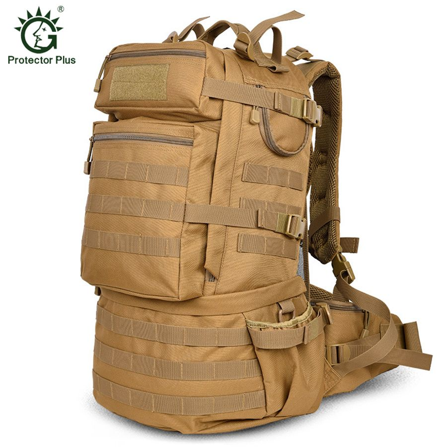 Men Tactical Backpack 50L Men Outdoor Trekking Hiking Travel Backpack Molle USA Army Backpack Large-capacity Military Backpack