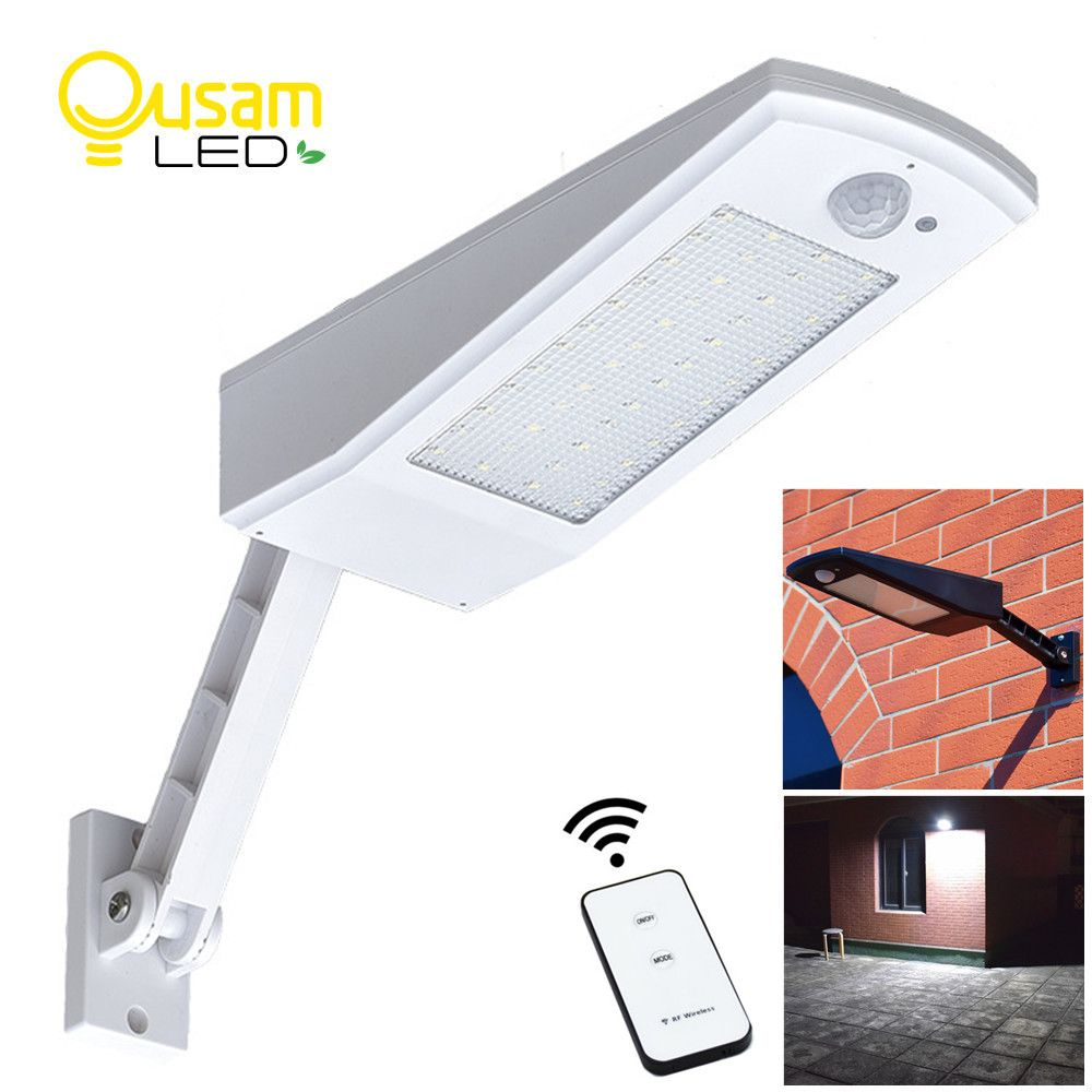 Outdoor Solar Light 48 LED Solar Powered Lamp 900LM 4500mAh Bulb Auto PIR Motion Sensor For Waterproof Garden Wall Lighting