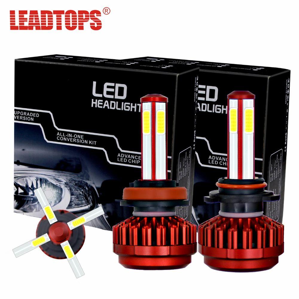 LEADTOPS Car Headlights Bulb H7 H11 LED H4 9005/HB3 9006/HB4 80W 8000Lm Mini Auto  Replacement 6000K 12V EJ