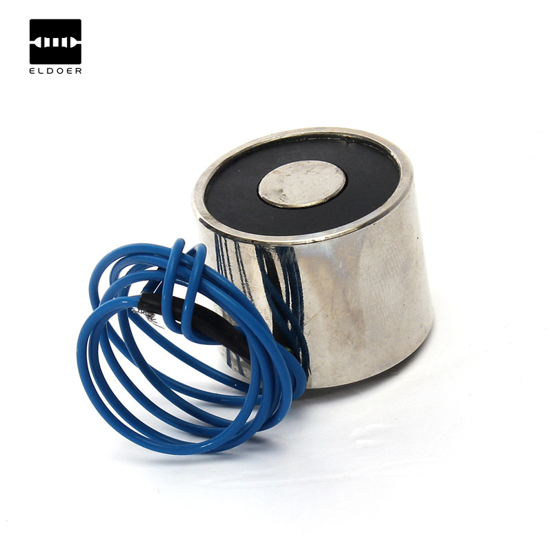 New 1PC 24 x 19mm DC 12V 4W Electric Magnet Solenoid Lift Electromagnet 11LB (5kg) Lifting Force Dimension