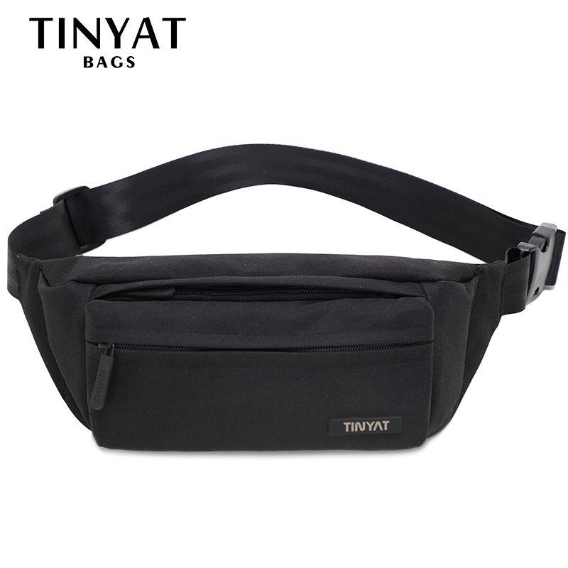 TINYAT Men Waist Bag Pack Super Light Belt Pack Pouch Women Adjustable Shoulder belt bag Phone Belt bag Fanny Travel Hip Pack