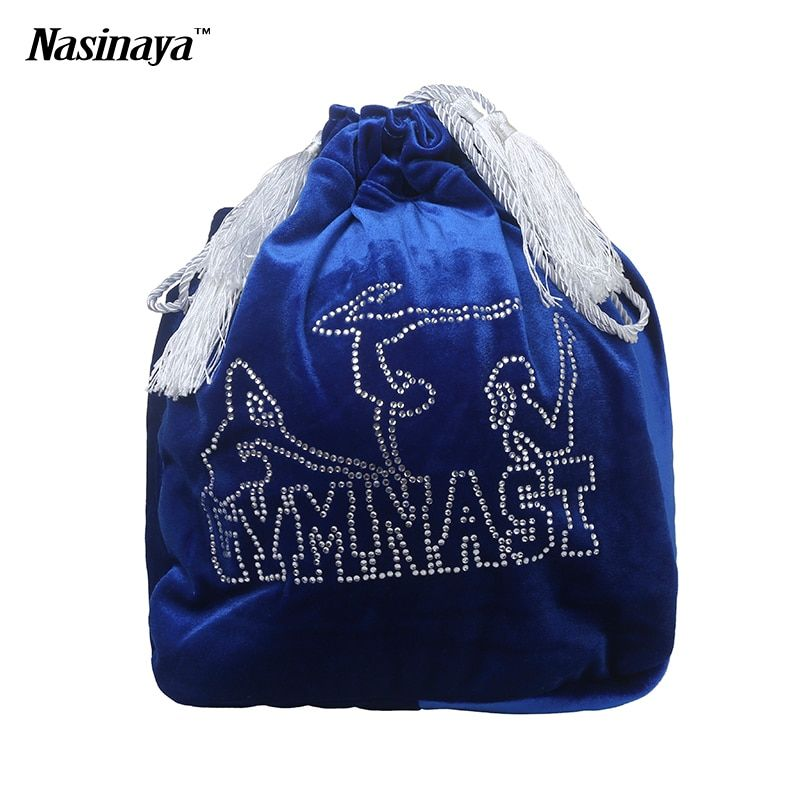 Rhythmic Gymnastics Ball Bag RG Professional Protection Velvet Fabric Accessories Girl Rhinestone 24 Colors To Select
