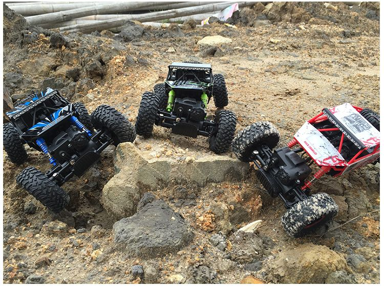 RC Car 4WD <font><b>2.4GHz</b></font> Rock Crawlers Rally climbing Car 4x4 Double Motors Bigfoot Car Remote Control Model Off-Road Vehicle Toy