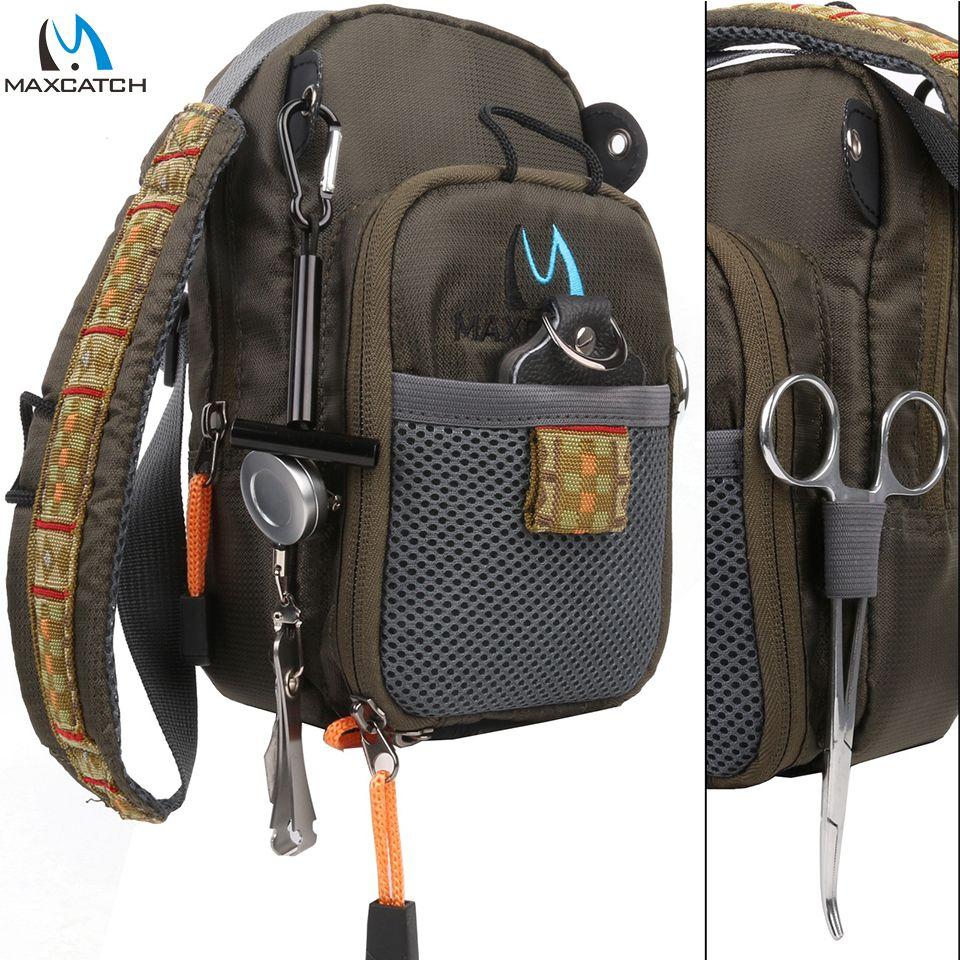 Sac de pêche à la mouche Maximumcatch sac de poitrine de pêche sac à dos de pêche avec accessoire d'outil de pêche