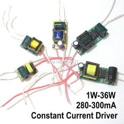2 шт. светодиодный драйвер постоянного светодиодая лампа источник питания 280mA 300mA 1 Вт 3 Вт 5 Вт 7 Вт 9 Вт 10 Вт 20 Вт 30 Вт 36 Вт 50 Вт изолирующий транс...
