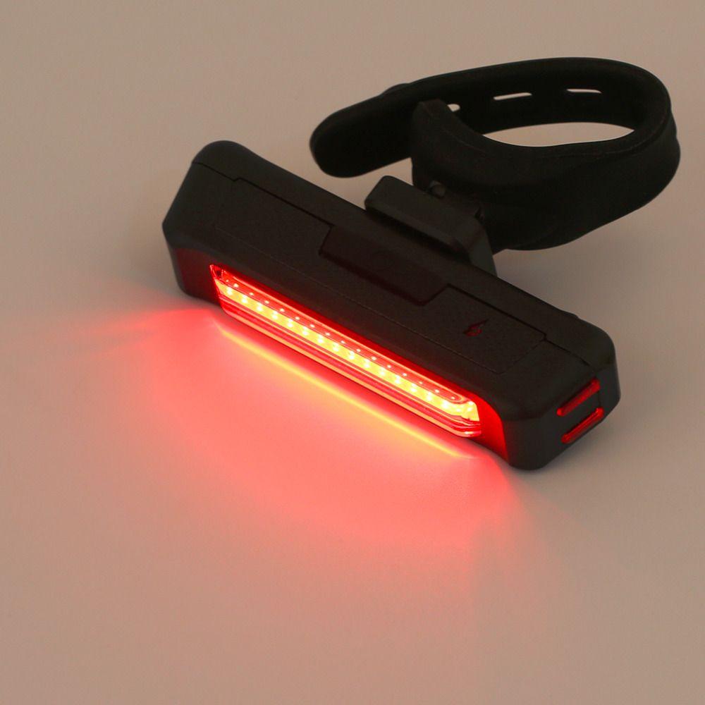 2017 USB Wiederaufladbare Fahrrad Licht Hinten Zurück Sicherheit Radfahren Rücklicht Rot 100LM