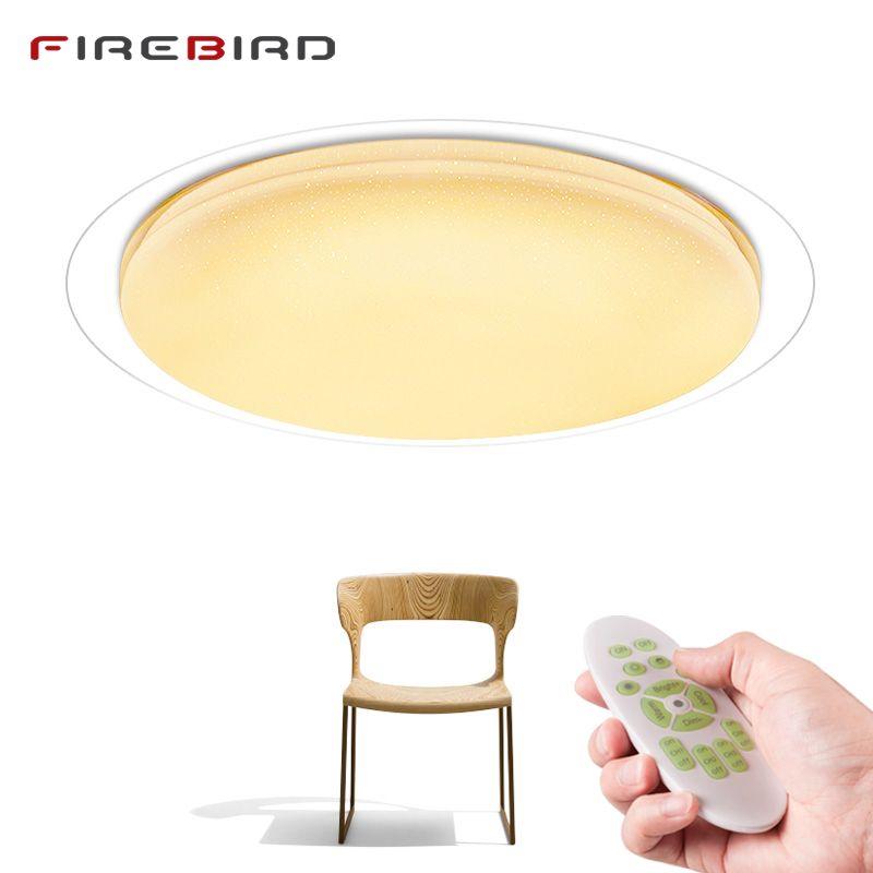 Moderne LED plafond Lumières Télécommande Dimmable 25 w 400mm 60 w 550mm Luminaire Salon Chambre plafond intelligente lampe