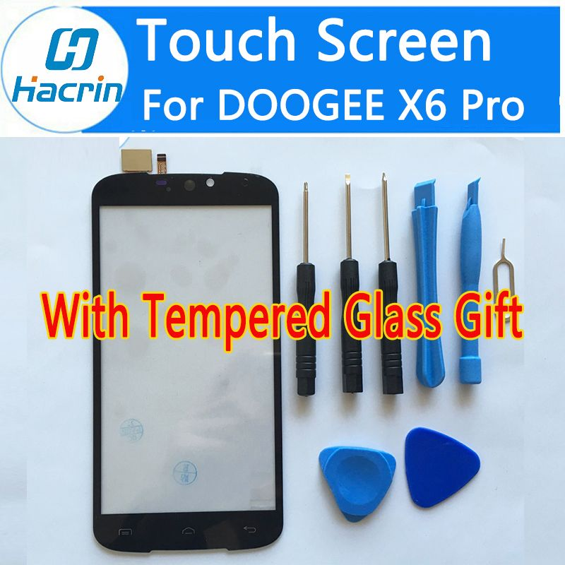 Hacrin For DOOGEE X6 Pro Touch Screen 100% New Digitizer Glass Panel Replacement For Doogee X6 Pro 5.5inch Mobile Phone