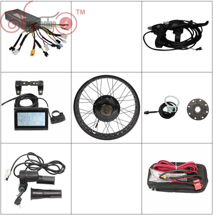 Free Shipping 36V 48V 1200W Fat Tire Ebike Conversion Kits Electric Bicycle Rear Hub Wheel 20