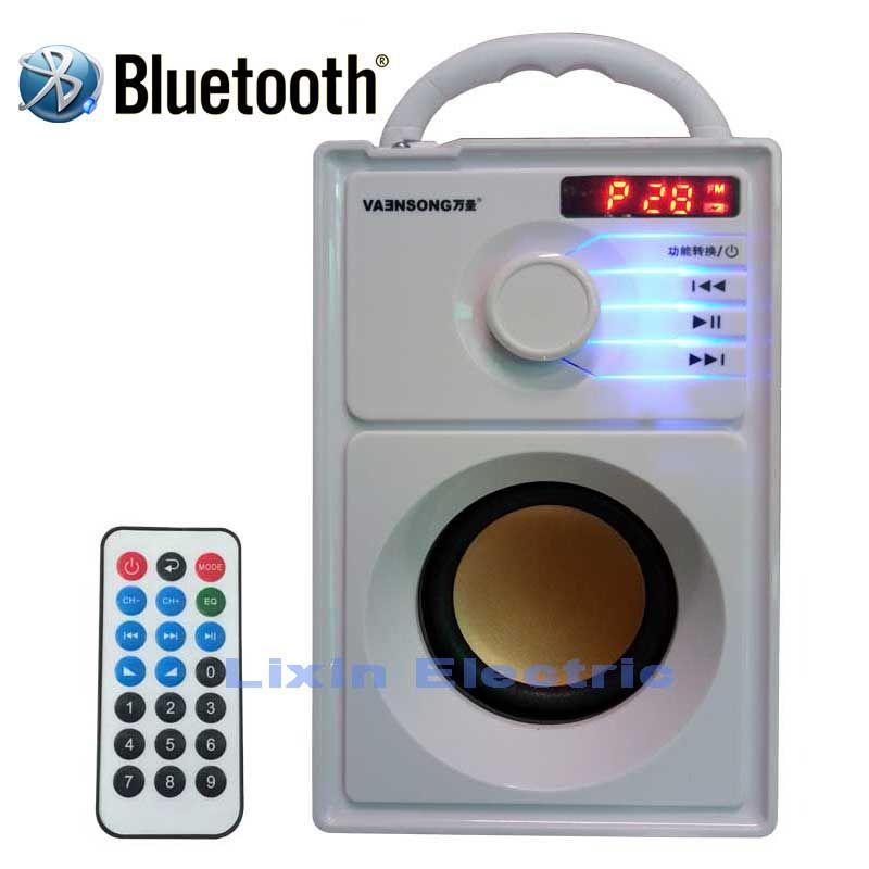 VAENSONG A10 Portable Stéréo Bluetooth Haut-Parleur 2.1 Subwoofer Peut Jouer la Carte de TF Et USB Et FM Radio Ainsi que pour La Famille Voyage