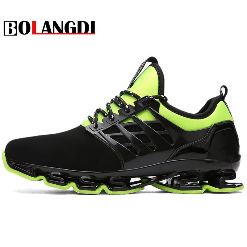 Bolangdi Big Size 36-44 Men Women Running Shoes Outdoor Breathable Jogging Sport blade Shoes For Men's krasovki Walking Sneakers