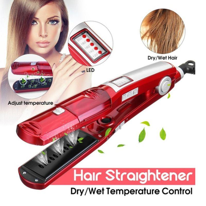 Fer à lisser vapeur fer plat électrique steampod céramique lisseur outils de coiffure kemei plaque de redressement gaufrettes 4