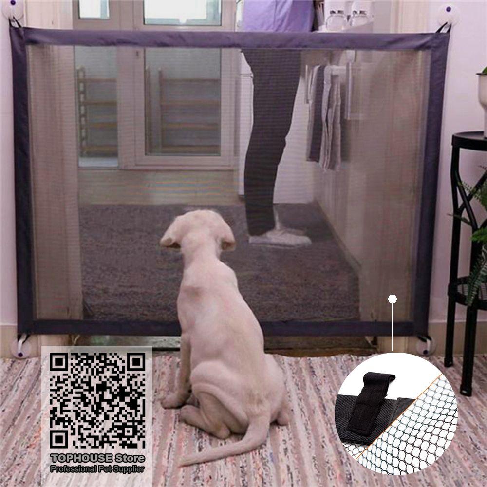 Clôtures pour chiens de compagnie porte magique pliante garde sûre et installer des clôtures pour chiens de compagnie