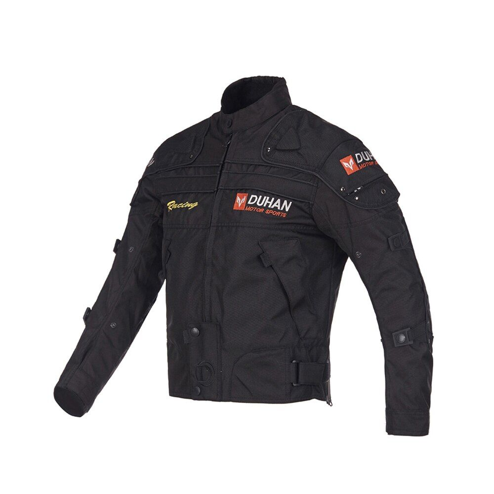 DUHAN Motorcycle Jackets Oxford Cloth Motocross Off-Road Racing Equipment <font><b>Gear</b></font> Jacket Clothes Moto Jackets Five Protector Guard