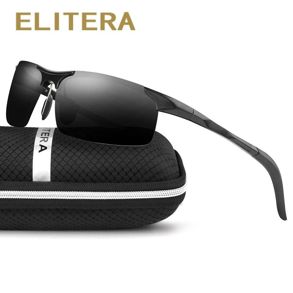 ELITERA En Aluminium Hommes Polarisées de Miroir Lunettes de Soleil Homme Conduite Pêche En Plein Air Eyewears Accessoires Lunettes de Soleil Pour Hommes E6589